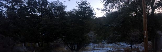 Yarnell AZ first snow of 2018