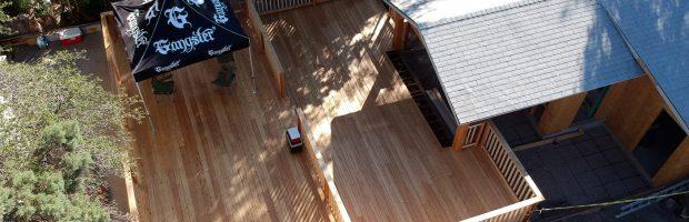 Gilligans deck almost complete, images shot with a DJI Spark